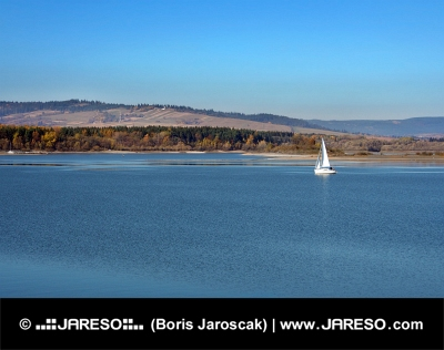 Waters of Orava reservoar, Slovakien