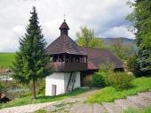 Lutherska kyrkan i Istebne byn, Slovakien.