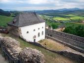 Utsikter från slottet Lubovna, Slovakien