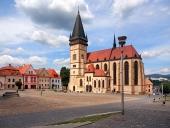 St Egidius basilika, Bardejov, Slovakien