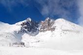 Den Lomnicky Peak, High Tatras, Slovakien