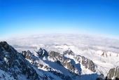 Panorama över Tatrabergen, Slovakien