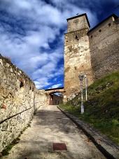Entré till Trencin slott, Slovakien