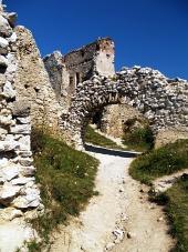 Interiör från slottet Cachtice, Slovakien