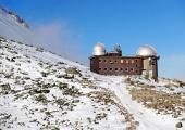 Observatory i High Tatras Skalnate Pleso, Slovakien