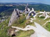 Vy från slottet Cachtice
