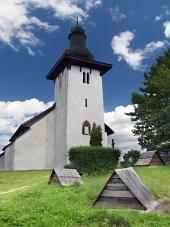 Saint Martin kyrka i Martincek, Slovakien
