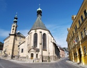Kyrkan i Banska Stiavnica, Slovakien