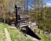 Trä befästning vid Havránok, Slovakien