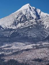 Krivan Peak i slovakiska Tatrabergen p? vintern
