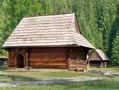 Sällsynta trä folkmusik hus i Zuberec