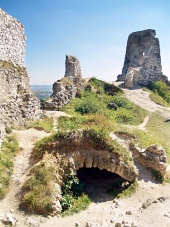 Catacombs av slottet Cachtice