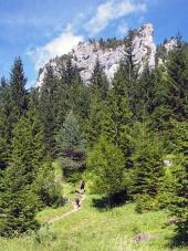 Klippformationer i Vratna Valley, Slovakien