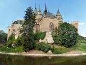 Södra sidan av slottet Bojnice, Slovakien