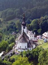 Spania Dolina och Church of the Transfiguration