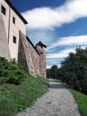 Park nedanför Zvolen slott, Slovakien