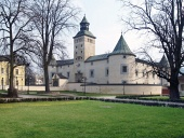 Thurzo slott i Bytca under våren