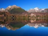 Tatrabergen återspeglas i Strbske Pleso