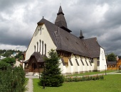 Church of St Anne, Oravska Lesna, Slovakien