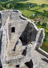 Tower of Strečno slott, Slovakien