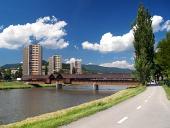 Vägen till Bysterec och pelargången bron