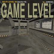 Lowpoly SCI-FI Game Level