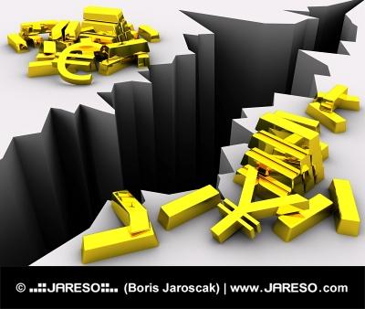 Menjalno razmerje, evro in jen