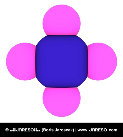 Metan (CH4 molekula)