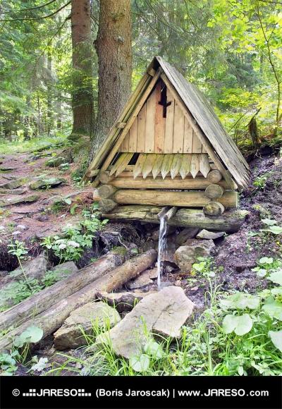 Lesena kabina na podeželju