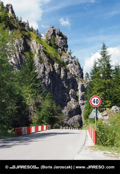 Cesta z mostom Vrátna dolina, na Slovaškem