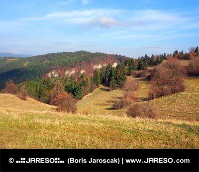 Jesenske polja na Ťupa Skala, na Slovaškem