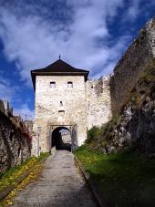 Začetek gradu Trencin