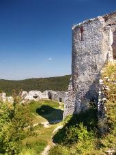 Čachtický grad - Stolp zanka