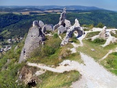 Pogled z gradu Čachtice