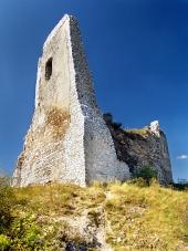 Čachtický grad - ruševine Stolp zanka