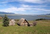 Celtic hiše na Havranok hriba, na Slovaškem