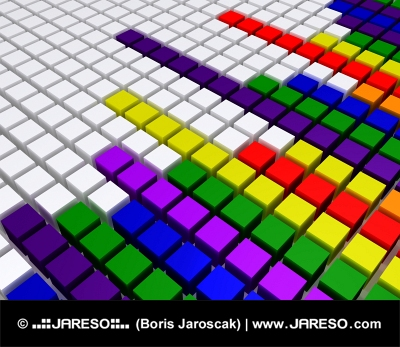 Rainbow equalizer similar to those used in sound monitoring devices