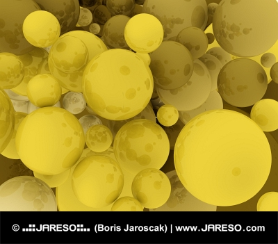 Golden spherical background