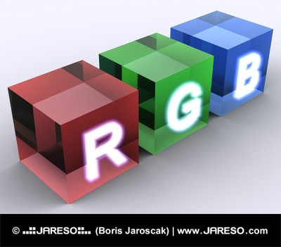Concept of RGB cubes