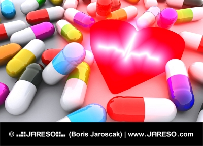 Pills, heart and ECG