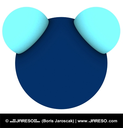 Isolated 3d model of water (H2O molecule)