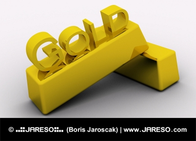 Two gold bars with GOLD letters