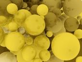 Golden spherical background