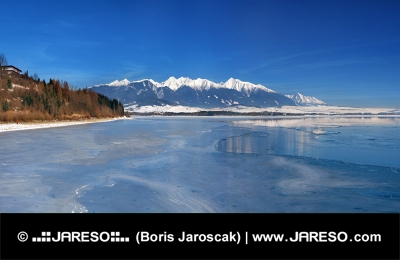 Frozen Liptovska Mara and Western Tatras