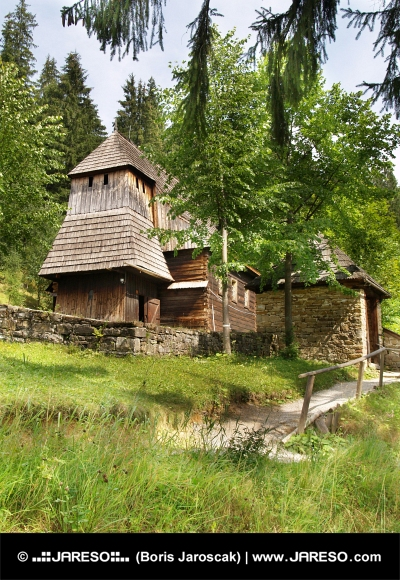 Rare wooden church in Zuberec, Slovakia