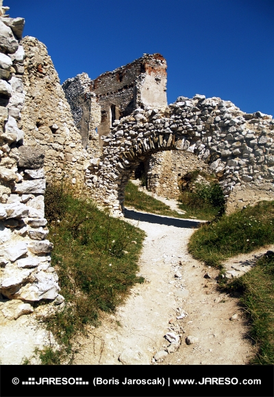 Interior of the castle of Cachtice, Slovakia
