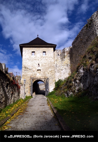Gate of the castle of Trencin