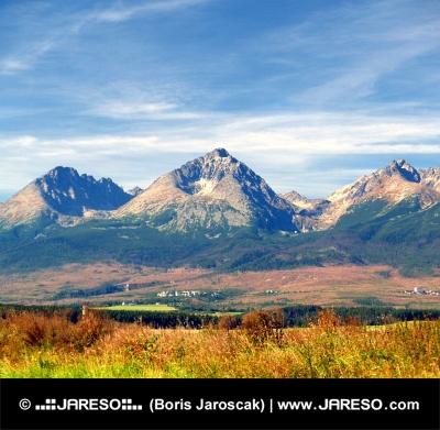 Massive Gerlach Peak during summer in Slovakia