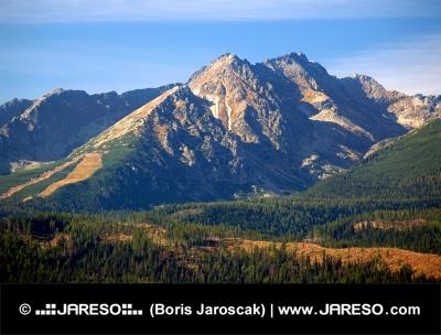 Green hills of High Tatrs in summer