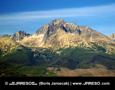 Steep peaks of the High Tatras in the summer